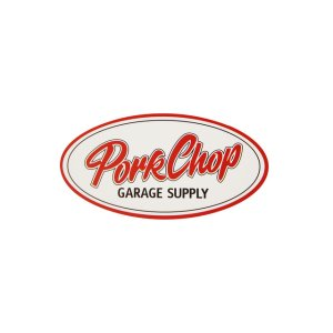 画像1: PORKCHOP GARAGE SUPPLY (ポークチョップガレージサプライ) PORKCHOP OVAL STICKER / SMALL
