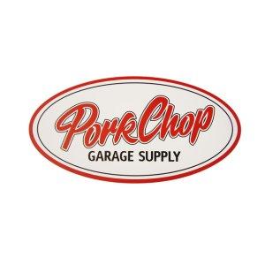 画像1: PORKCHOP GARAGE SUPPLY (ポークチョップガレージサプライ) PORKCHOP OVAL STICKER / LARGE